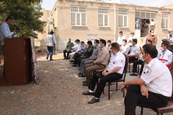 رزمایش و عملیات پدافند زیستی طرح شهید سردار سلیمانی در جعفرآباد مغان