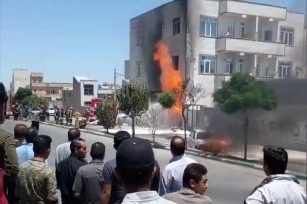 انفجار کپسول گاز در اردبیل حادثه آفرید+ عکس و فیلم